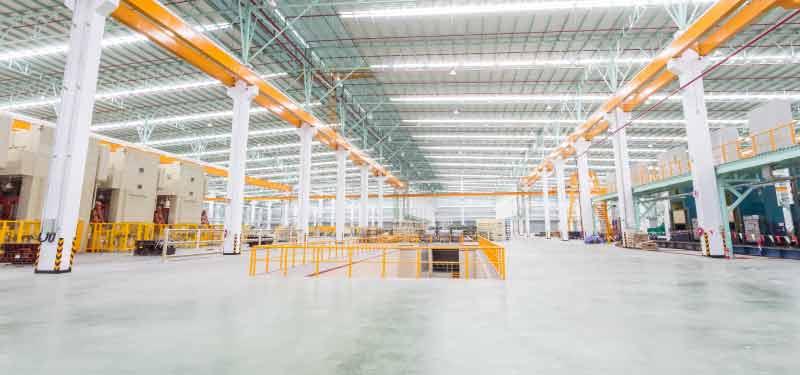 ทำความสะอาดพื้นโรงงานอุตสาหกรรม